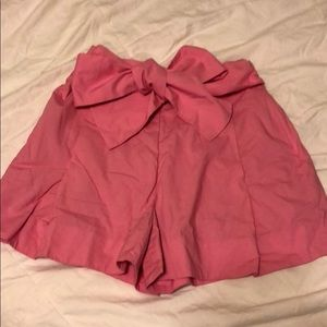 J. Crew Pink High Waisted Bow Shorts